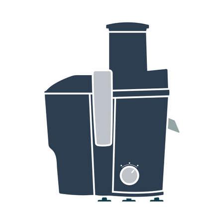 Juicer Machine Icon. Flat Color Design. Vector Illustration.
