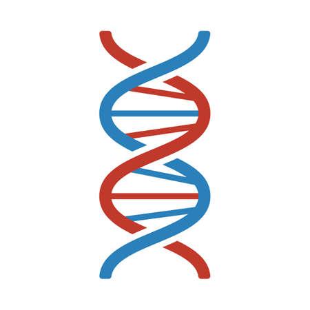 DNA Icon. Flat Color Design. Illustration.
