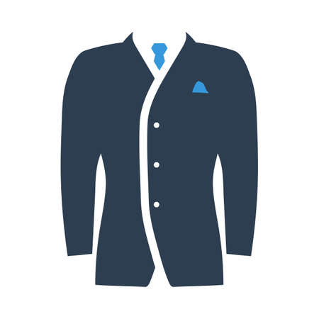 Mail Suit Icon. Flat Color Design. Vector Illustration.