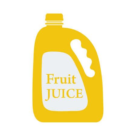 Fruit Juice Canister Icon. Flat Color Design. Vector Illustration.
