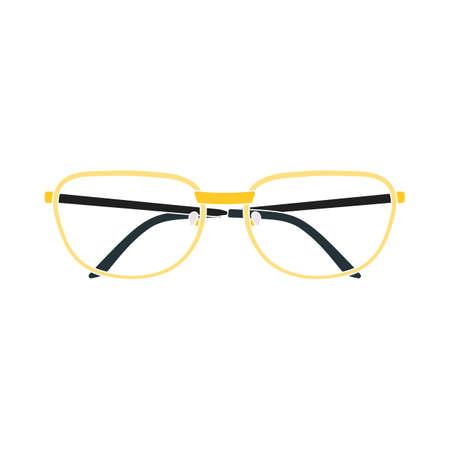 Glasses Icon. Flat Color Design. Vector Illustration. Векторная Иллюстрация