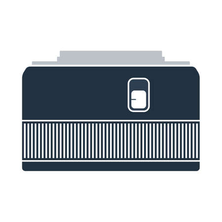 Icon Of Photo Camera 50 Mm Lens. Flat Color Design. Vector Illustration.