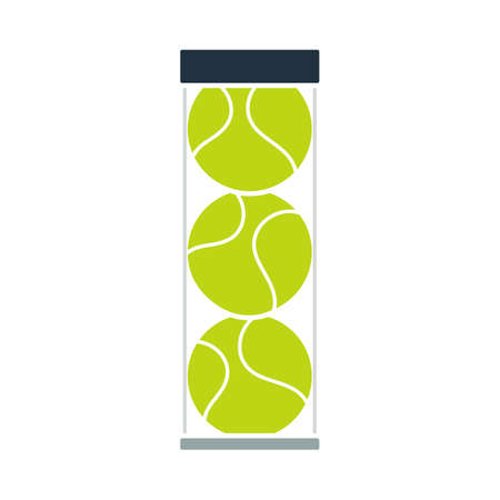 Tennis Ball Container Icon. Flat Color Design. Vector Illustration. Stock Illustratie