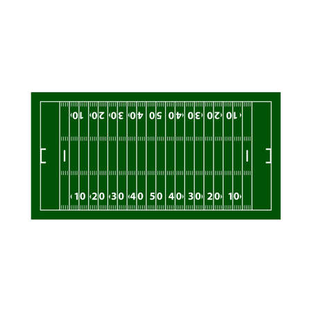 American Football Field Mark Icon. Flat Color Design. Vector Illustration.