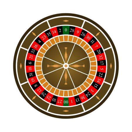 Roulette Wheel Icon. Flat Color Design. Vector Illustration.