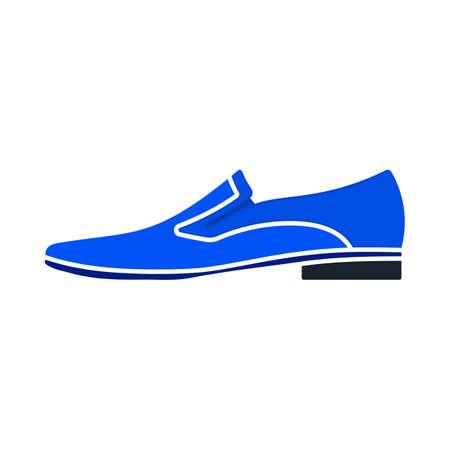 Man Shoe Icon. Flat Color Design. Vector Illustration. 向量圖像
