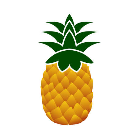 Icon Of Pineapple In Ui Colors. Flat Color Design. Vector Illustration.
