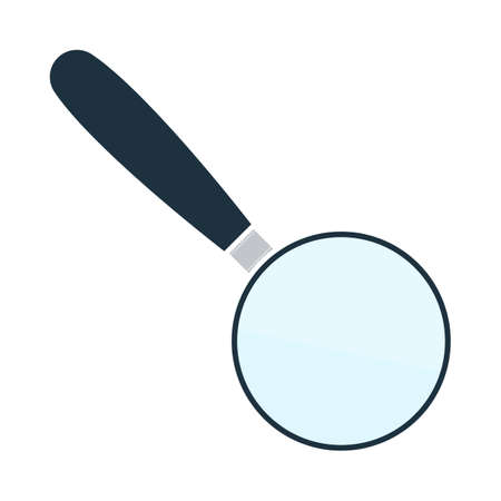Magnifying Glass Icon. Flat Color Design. Vector Illustration.