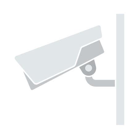 Security Camera Icon. Flat Color Design. Vector Illustration.