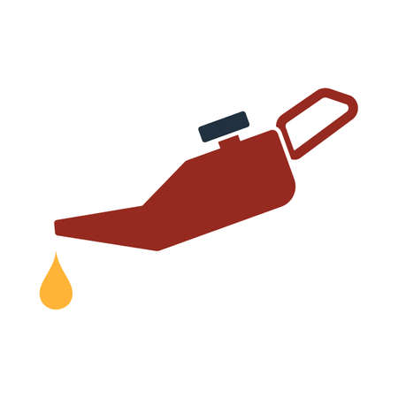 Oil Canister Icon. Flat Color Design. Vector Illustration.