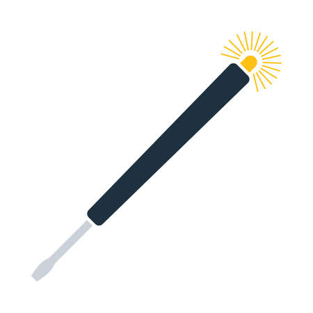 Electricity Test Screwdriver Icon. Flat Color Design. Vector Illustration.