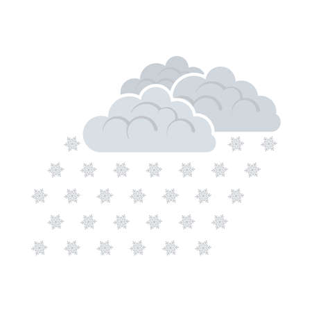 Snowfall Icon. Flat Color Design. Vector Illustration. 矢量图像