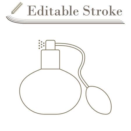 Cologne Spray Icon. Editable Stroke Simple Design. Vector Illustration.
