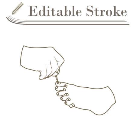 Pedicure Icon. Editable Stroke Simple Design. Vector Illustration.