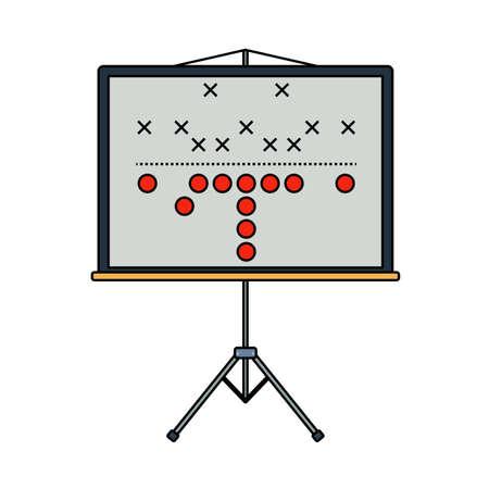 American Football Game Plan Stand Icon. Editable Outline With Color Fill Design. Vector Illustration. Illusztráció