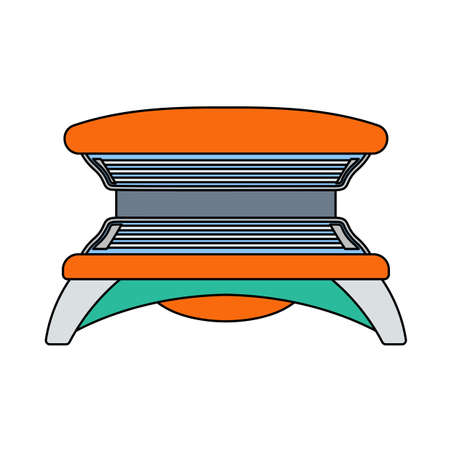 Icon Of Solarium. Editable Outline With Color Fill Design. Vector Illustration.