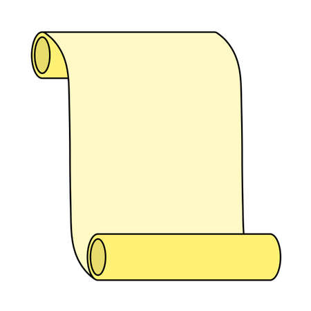 Canvas Scroll Icon. Editable Outline With Color Fill Design. Vector Illustration.