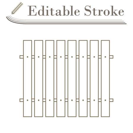 Icon Of Construction Fence. Editable Stroke Simple Design. Ilustracje wektorowe