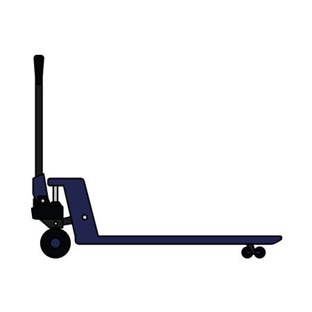 Hydraulic Trolley Jack Icon. Editable Outline With Color Fill Design.