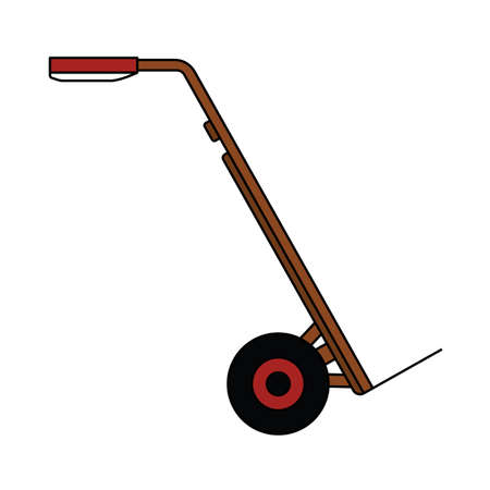 Warehouse Trolley Icon. Editable Outline With Color Fill Design. 向量圖像