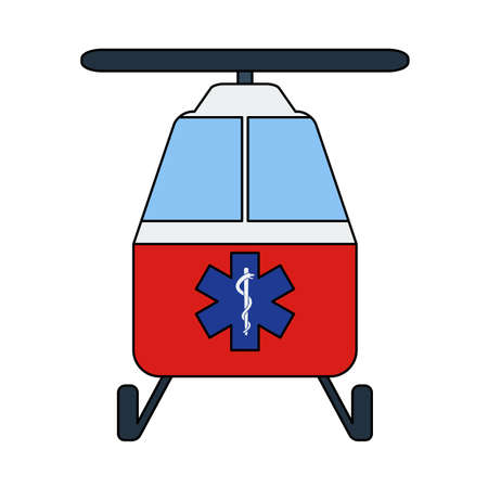 Medevac Icon. Editable Outline With Color Fill Design. Vector Illustration.