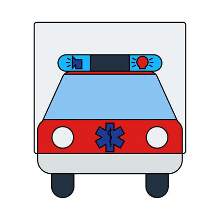 Ambulance Car Icon. Editable Outline With Color Fill Design. Vector Illustration.