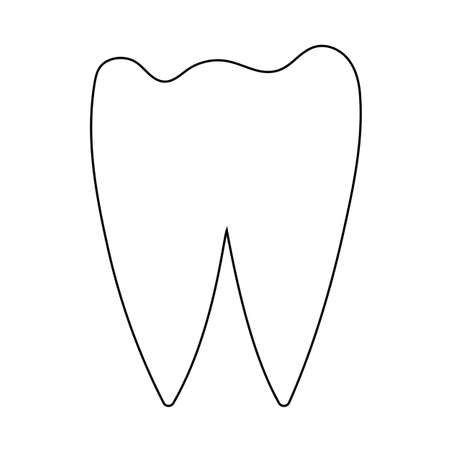 Tooth Icon. Editable Outline With Color Fill Design. Vector Illustration.