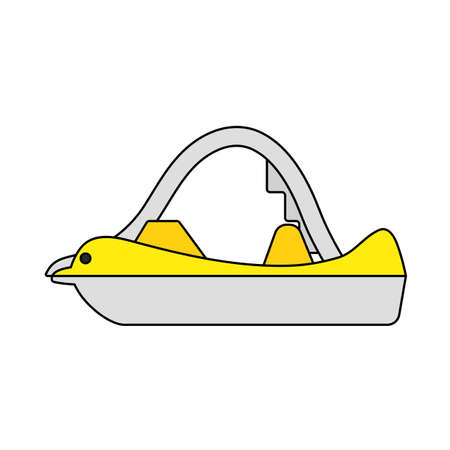 Catamaran Icon. Editable Outline With Color Fill Design. Vector Illustration.