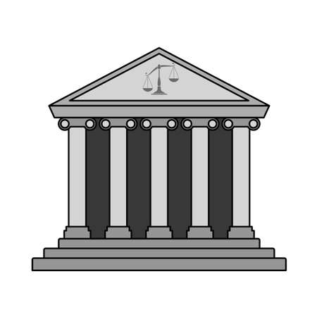 Courthouse Icon. Editable Outline With Color Fill Design. Vector Illustration.