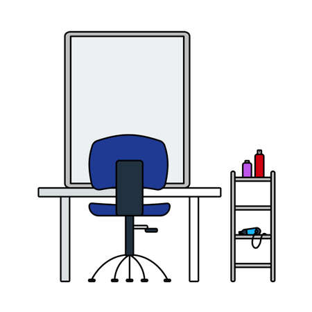 Barbershop Icon. Editable Outline With Color Fill Design. Vector Illustration.