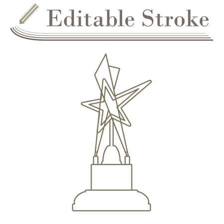 Cinema Award Icon. Editable Stroke Simple Design. Vector Illustration.