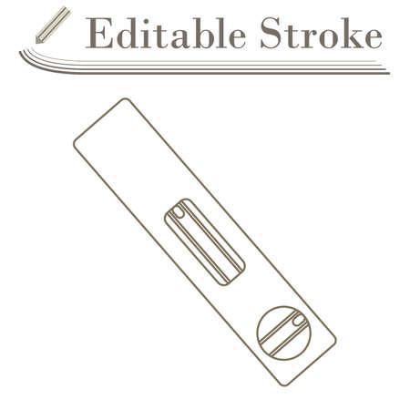 Icon Of Construction Level. Editable Stroke Simple Design. Vector Illustration.