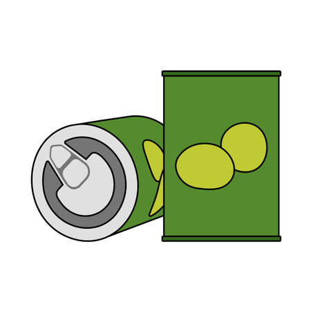 Olive Can Icon. Editable Outline With Color Fill Design. Vector Illustration.