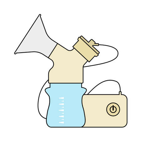 Electric Breast Pump Icon. Editable Outline With Color Fill Design. Vector Illustration.
