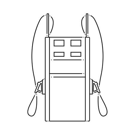 Fuel Station Icon. Outline Simple Design. Vector Illustration.