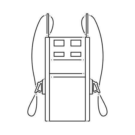 Fuel Station Icon. Outline Simple Design. Vector Illustration.