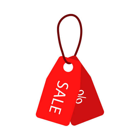 Discount Tags Icon. Flat Color Design. Vector Illustration.
