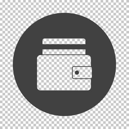 Credit Card Get Out From Purse Icon. Subtract Stencil Design on Tranparency Grid. Vector Illustration.