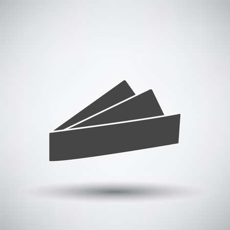 Business Handkerchief Icon. Dark Gray on Gray Background With Round Shadow. Vector Illustration.