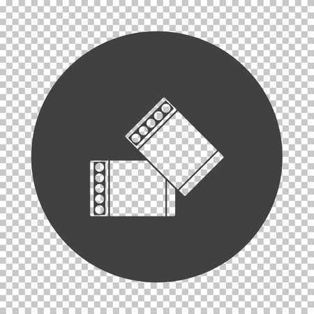 Business Cufflink Icon. Subtract Stencil Design on Tranparency Grid. Vector Illustration. Stock Illustratie