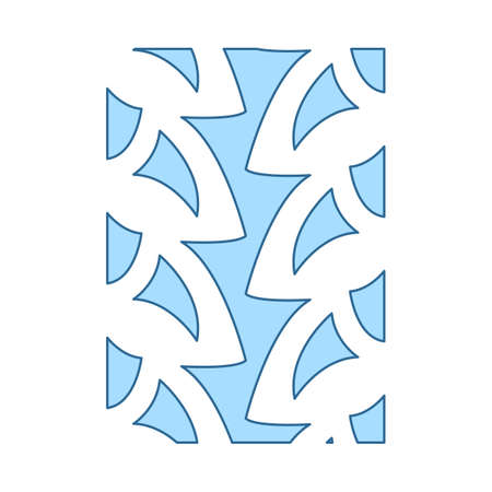 Bike Tire Print Icon. Thin Line With Blue Fill Design. Vector Illustration.