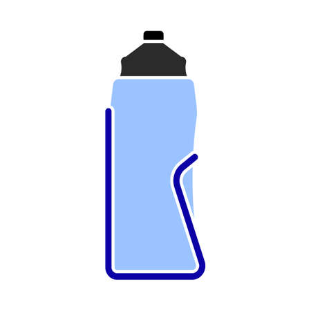 Bike Bottle Cages Icon. Flat Color Design. Vector Illustration.