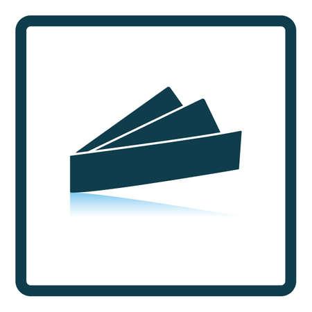 Business Handkerchief Icon. Square Shadow Reflection Design. Vector Illustration.