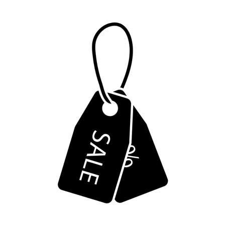 Discount Tags Icon. Black Stencil Design. Vector Illustration.