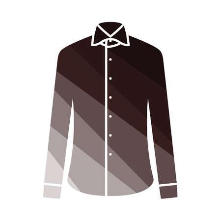 Business Shirt Icon. Flat Color Ladder Design. Vector Illustration.