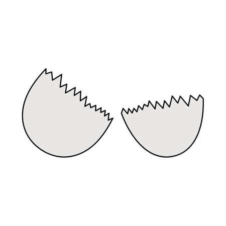 Empty Egg Shell Icon. Editable Outline With Color Fill Design. Vector Illustration. Ilustración de vector