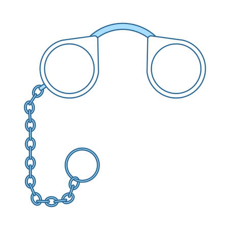 Pince-Nez Icon. Thin Line With Blue Fill Design. Vector Illustration.