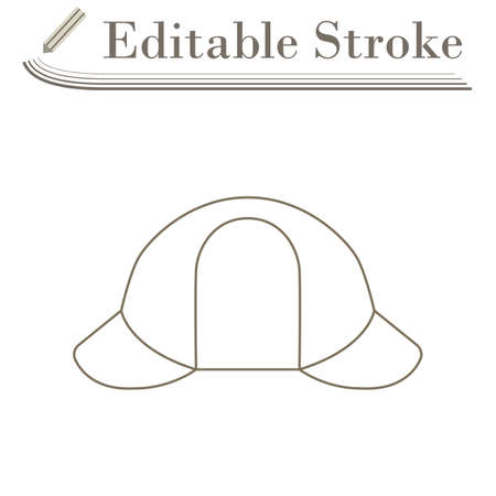 Sherlock Hat Icon. Editable Stroke Simple Design. Vector Illustration. Illustration