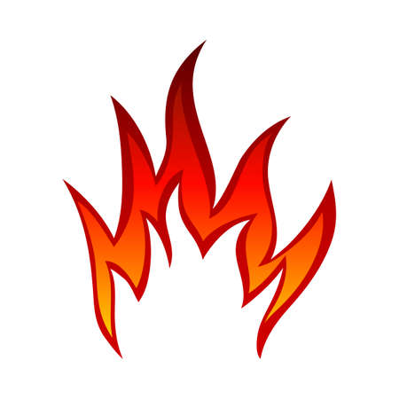 Fire Flame Element. Red And Yellow Colors Design. Vector Illustration.