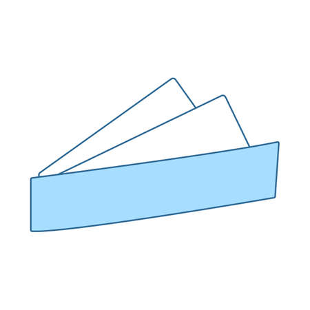 Business Handkerchief Icon. Thin Editable Line With Blue Fill Design. Vector Illustration.
